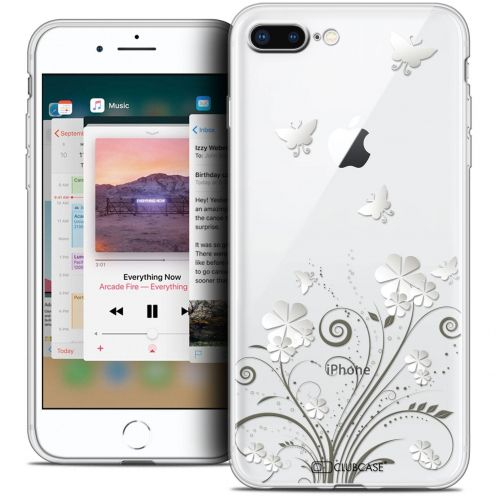 "Extra Slim Crystal Gel Apple iPhone 7 Plus (5.5"") Case Summer Papillons"