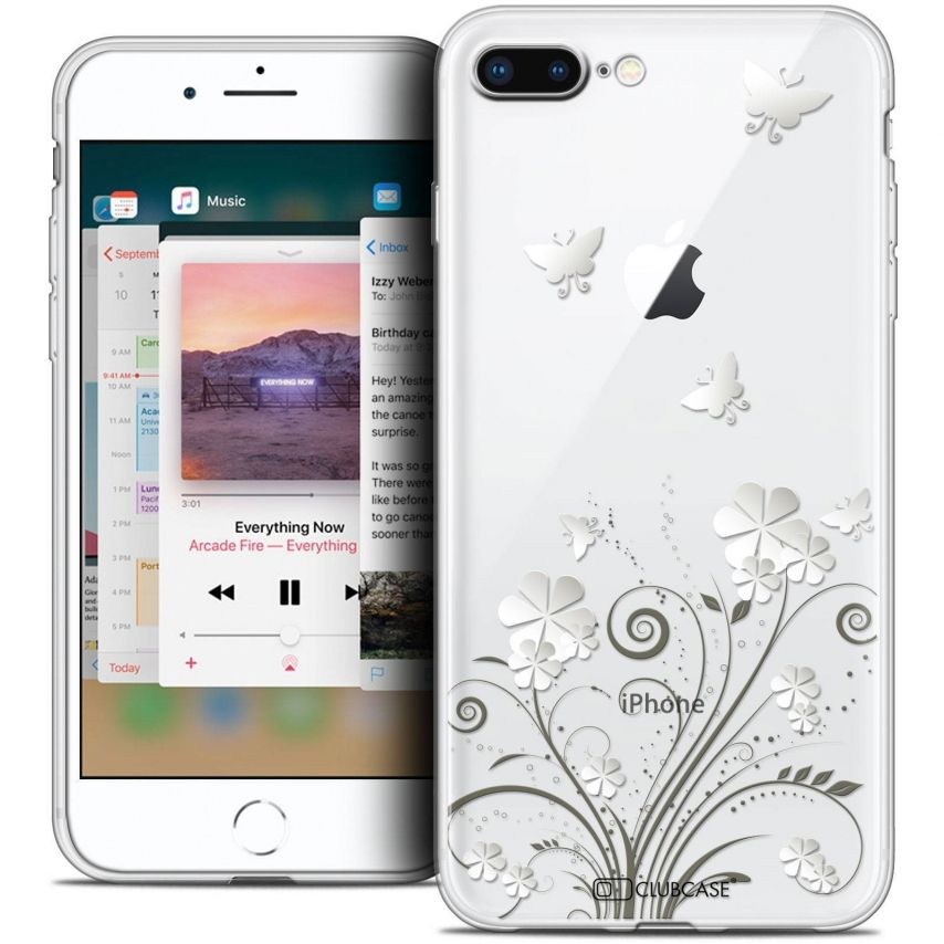 """Extra Slim Crystal Gel Apple iPhone 7 Plus (5.5"""") Case Summer Papillons"""