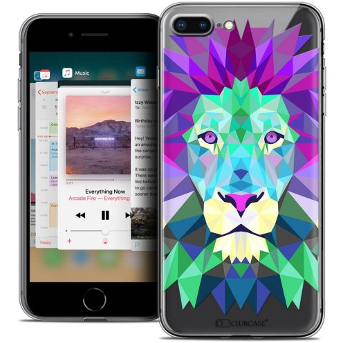 "Extra Slim Crystal Gel Apple iPhone 7 Plus (5.5"") Case Polygon Animals Lion"