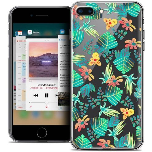 "Extra Slim Crystal Gel Apple iPhone 7 Plus (5.5"") Case Spring Tropical"
