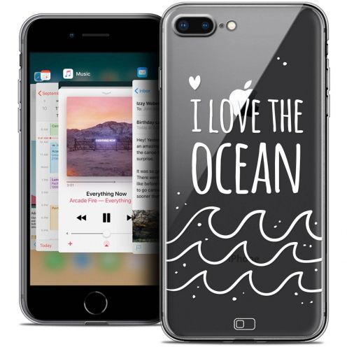 "Extra Slim Crystal Gel Apple iPhone 7 Plus (5.5"") Case Summer I Love Ocean"