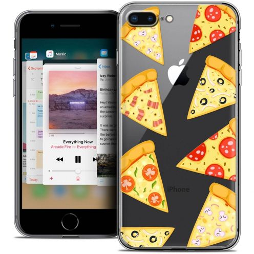 "Extra Slim Crystal Gel Apple iPhone 7 Plus (5.5"") Case Foodie Pizza"