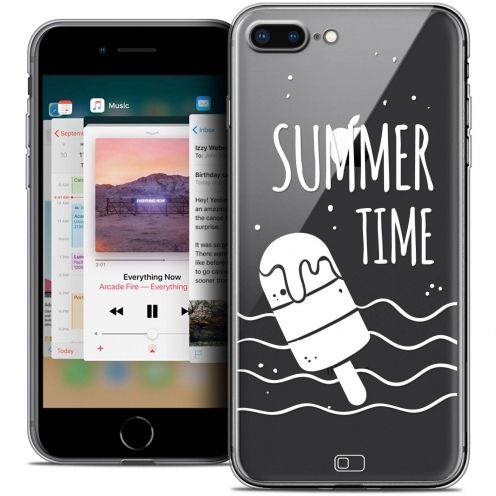 "Extra Slim Crystal Gel Apple iPhone 7 Plus (5.5"") Case Summer Summer Time"