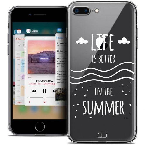 "Extra Slim Crystal Gel Apple iPhone 7 Plus (5.5"") Case Summer Life's Better"