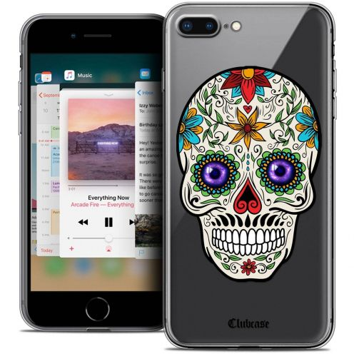 "Extra Slim Crystal Gel Apple iPhone 7 Plus (5.5"") Case Skull Maria's Flower"