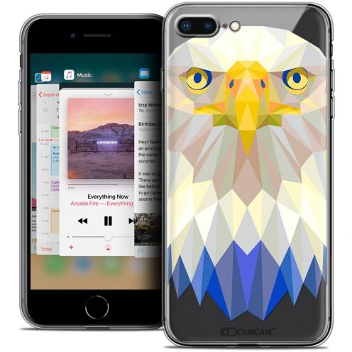 "Extra Slim Crystal Gel Apple iPhone 7 Plus (5.5"") Case Polygon Animals Eagle"