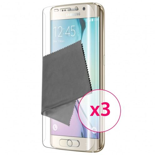 Clubcase ® Ultra Clear HQ screen protector for Galaxy S6 Edge 3-Pack
