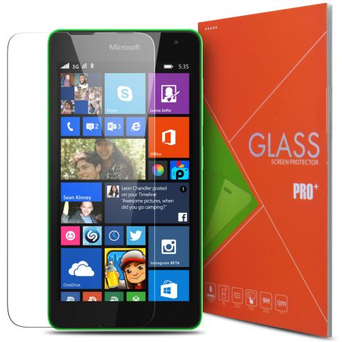 Glass Pro+ Ultra HD 9H 0.33mm Tempered Glass Screen Protector for Microsoft Lumia 535