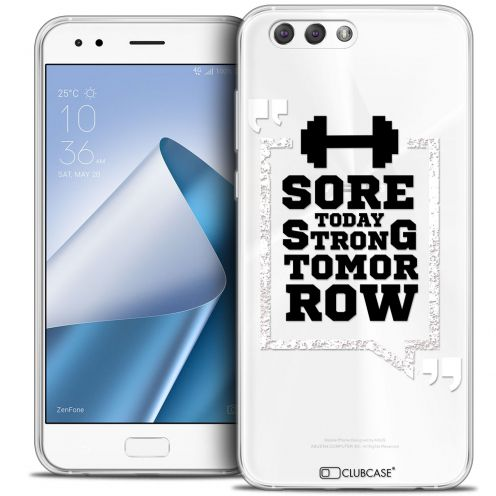 "Extra Slim Crystal Gel Asus Zenfone 4 ZE554KL (5.5"") Case Quote Strong Tomorrow"