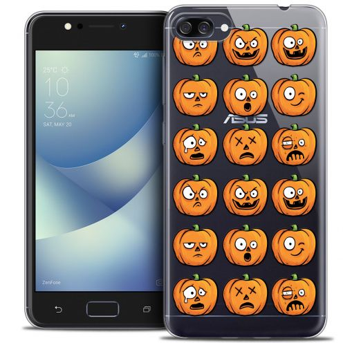 "Extra Slim Crystal Gel Asus Zenfone 4 MAX PLUS / Pro ZC554KL (5.5"") Case Halloween Cartoon Citrouille"