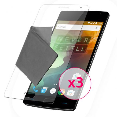 Clubcase ® 3H Ultra Clear HD screen protector for OnePlus 2 3-Pack