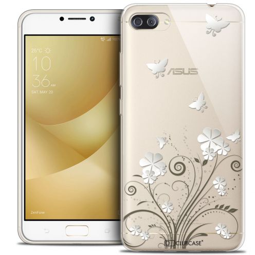 "Extra Slim Crystal Gel Asus Zenfone 4 MAX PLUS / Pro ZC554KL (5.5"") Case Summer Papillons"
