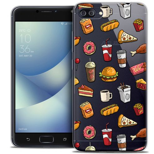 "Extra Slim Crystal Gel Asus Zenfone 4 MAX PLUS / Pro ZC554KL (5.5"") Case Foodie Fast Food"