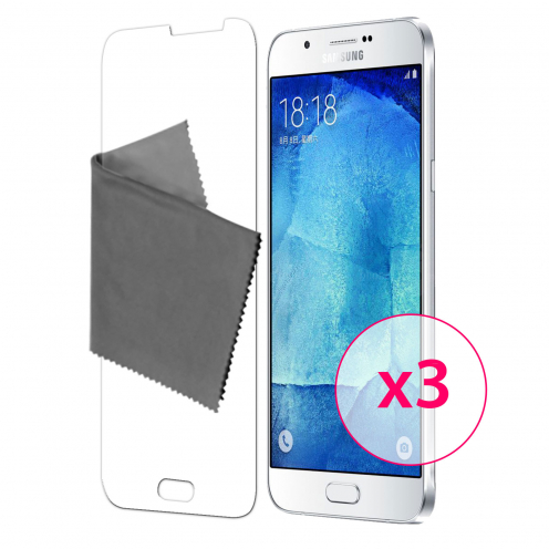 Clubcase ® 3H Ultra Clear HD screen protector for Samsung Galaxy A8 3-Pack