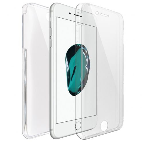 Apple iPhone 7/8 Plus (5.5) TPU Gel Defense 360° Front Back Case - Clear