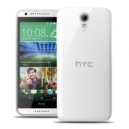 Ultra thin 0.5 mm Crystal Clear View Flexible Case for HTC Desire 620