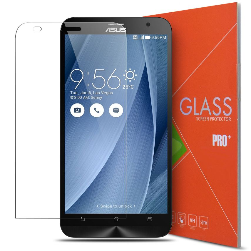Glass Pro+ Ultra HD 9H 0.33mm Tempered Glass Screen Protector for Asus Zenfone 2 5.5""