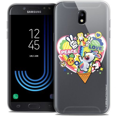 "Crystal Gel Samsung Galaxy J7 2017 J730 (5.5"") Case Lapins Crétins™ Peace And Love"