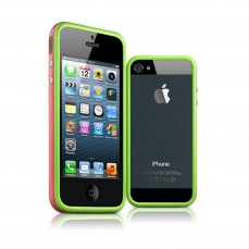 Bumper for iPhone 5 HQ green / Rose