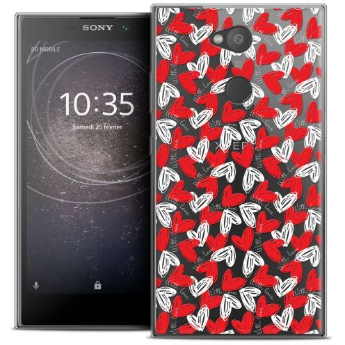 "Extra Slim Crystal Gel Sony Xperia L2 (5.5"") Case Love With Love"