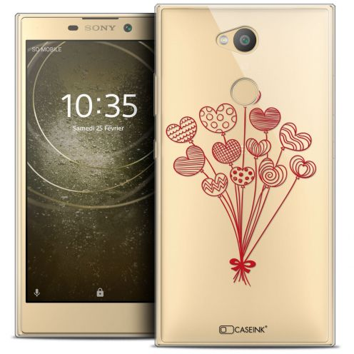"Extra Slim Crystal Gel Sony Xperia L2 (5.5"") Case Love Ballons d'amour"
