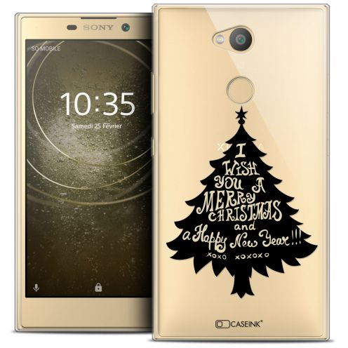 "Extra Slim Crystal Gel Sony Xperia L2 (5.5"") Case Noël 2017 XOXO Tree"