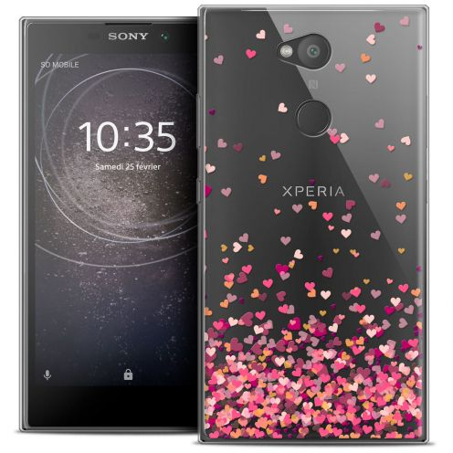 """Extra Slim Crystal Gel Sony Xperia L2 (5.5"""") Case Sweetie Heart Flakes"""