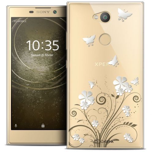 "Extra Slim Crystal Gel Sony Xperia L2 (5.5"") Case Summer Papillons"