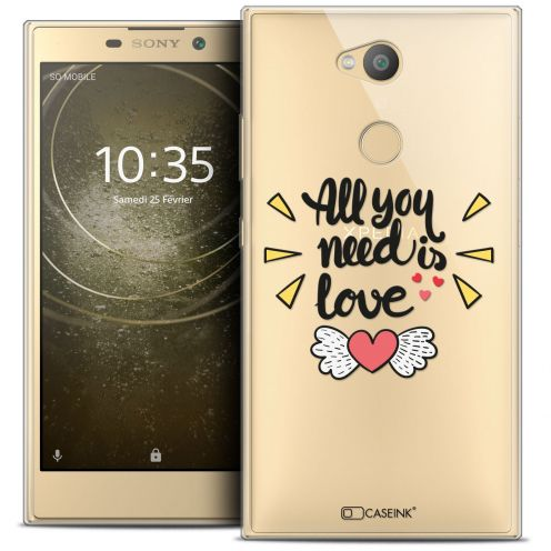"Extra Slim Crystal Gel Sony Xperia L2 (5.5"") Case Love All U Need Is"