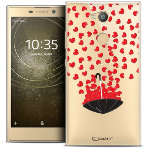 "Extra Slim Crystal Gel Sony Xperia L2 (5.5"") Case Love Parapluie d'Amour"