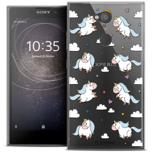 "Extra Slim Crystal Gel Sony Xperia L2 (5.5"") Case Fantasia Licorne In the Sky"