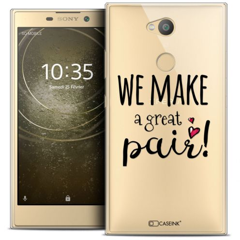 "Extra Slim Crystal Gel Sony Xperia L2 (5.5"") Case Love We Make Great Pair"