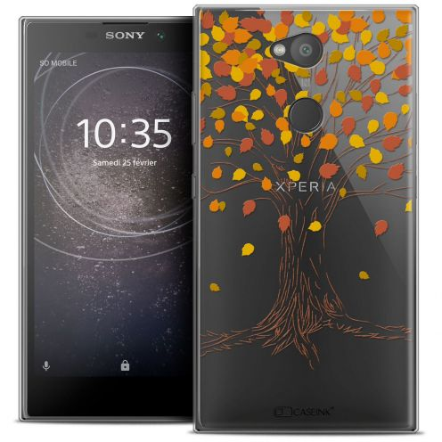 "Extra Slim Crystal Gel Sony Xperia L2 (5.5"") Case Autumn 16 Tree"