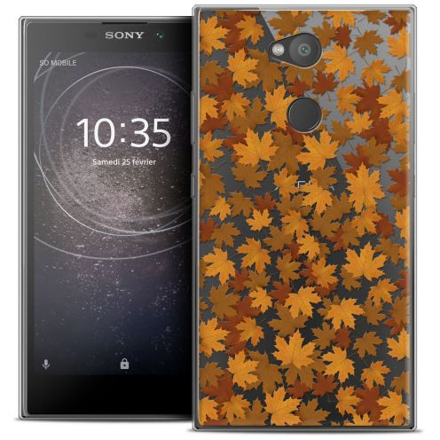 "Extra Slim Crystal Gel Sony Xperia L2 (5.5"") Case Autumn 16 Feuilles"