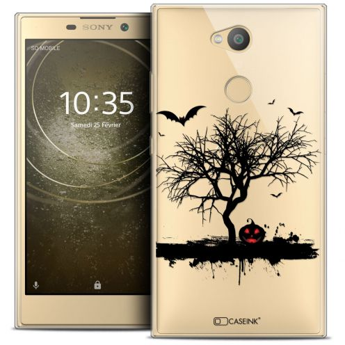 "Extra Slim Crystal Gel Sony Xperia L2 (5.5"") Case Halloween Devil's Tree"