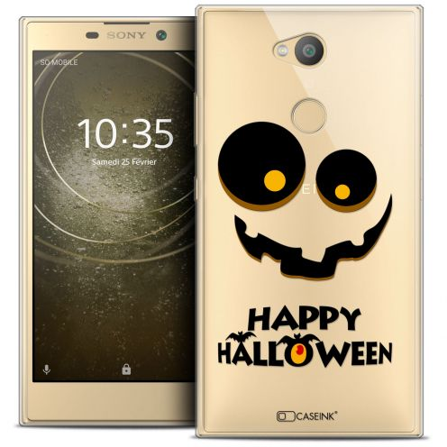 "Extra Slim Crystal Gel Sony Xperia L2 (5.5"") Case Halloween Happy"