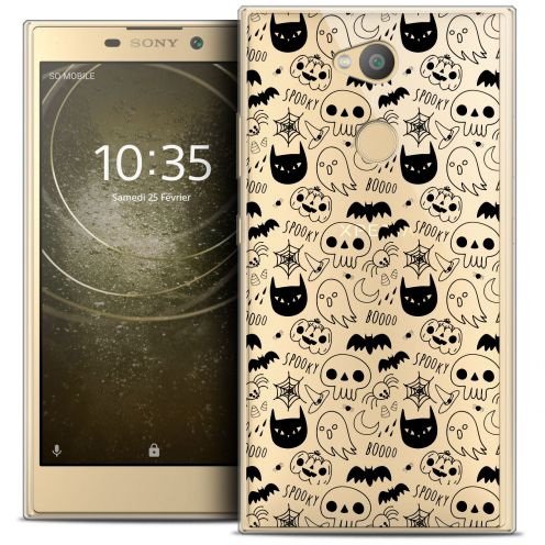 "Extra Slim Crystal Gel Sony Xperia L2 (5.5"") Case Halloween Spooky"