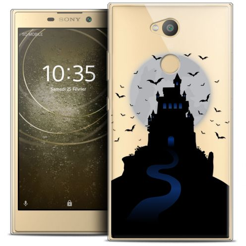 "Extra Slim Crystal Gel Sony Xperia L2 (5.5"") Case Halloween Castle Nightmare"