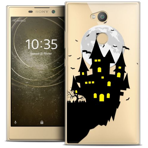 "Extra Slim Crystal Gel Sony Xperia L2 (5.5"") Case Halloween Castle Dream"