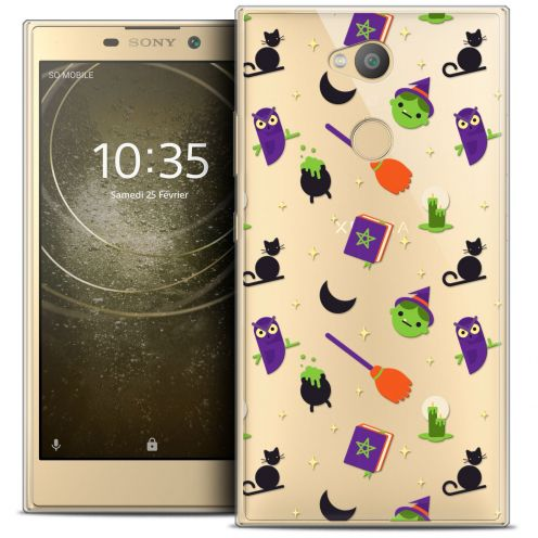 "Extra Slim Crystal Gel Sony Xperia L2 (5.5"") Case Halloween Witch Potter"