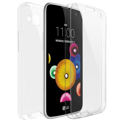 LG K4 TPU Gel Defense 360° Front Back Case - Clear