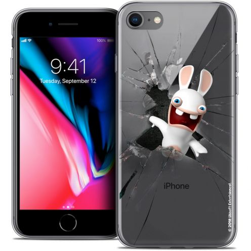"Crystal Gel Apple iPhone 7 (4.7"") Case Lapins Crétins™ Breaking Glass"
