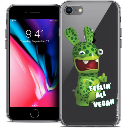 "Crystal Gel Apple iPhone 7 (4.7"") Case Lapins Crétins™ Vegan"