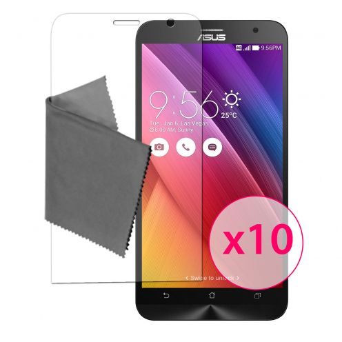 """Clubcase ® 3H Ultra Clear HD screen protector for Asus Zenfone 2 (5.0"""") 10-Pack"""