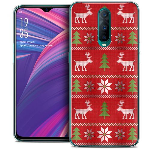 """Extra Slim Crystal Gel Oppo RX17 Pro (6.4"""") Case Noël 2017 Couture Rouge"""