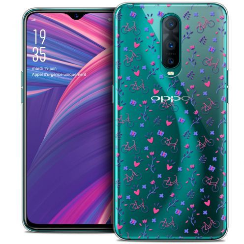 """Extra Slim Crystal Gel Oppo RX17 Pro (6.4"""") Case Love Bicycle"""