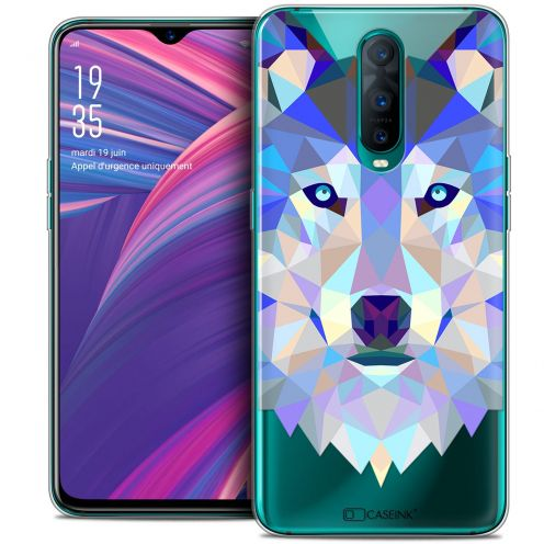 "Extra Slim Crystal Gel Oppo RX17 Pro (6.4"") Case Polygon Animals Wolf"