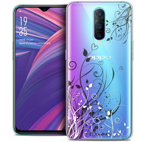 """Extra Slim Crystal Gel Oppo RX17 Pro (6.4"""") Case Love Hearts Flowers"""