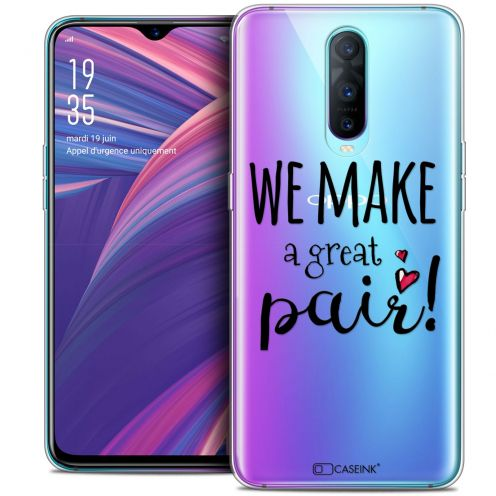 """Extra Slim Crystal Gel Oppo RX17 Pro (6.4"""") Case Love We Make Great Pair"""