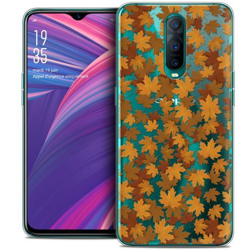 """Extra Slim Crystal Gel Oppo RX17 Pro (6.4"""") Case Autumn 16 Feuilles"""